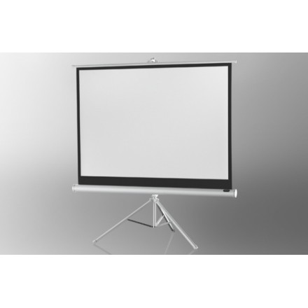 Projection screen on foot ceiling Economy 133 x 100 cm - White Edition