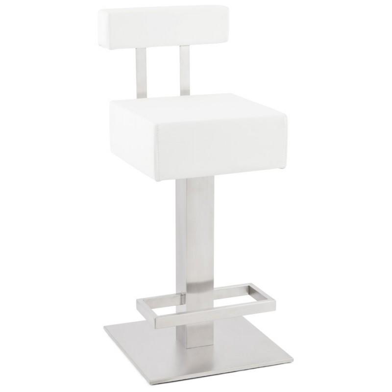 Tabouret design carré rotatif mi-hauteur ESCAULT MINI (blanc) - image 16045