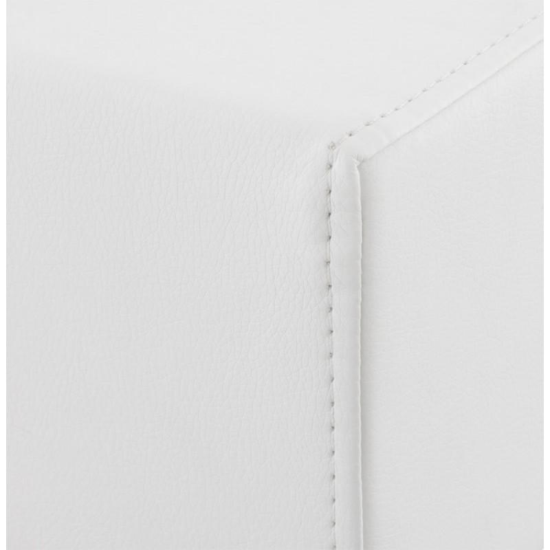 Tabouret design carré rotatif mi-hauteur ESCAULT MINI (blanc) - image 16054