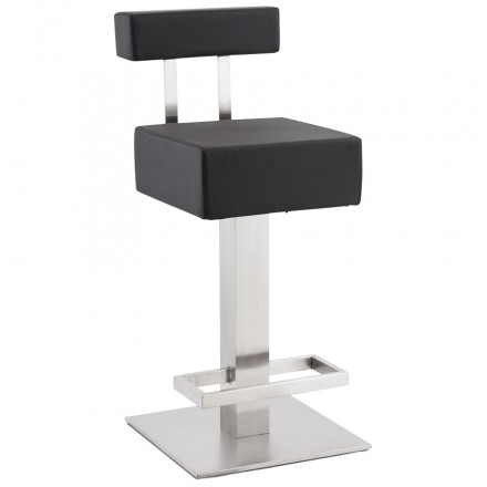 Design square stool ESCAULT MINI (black)