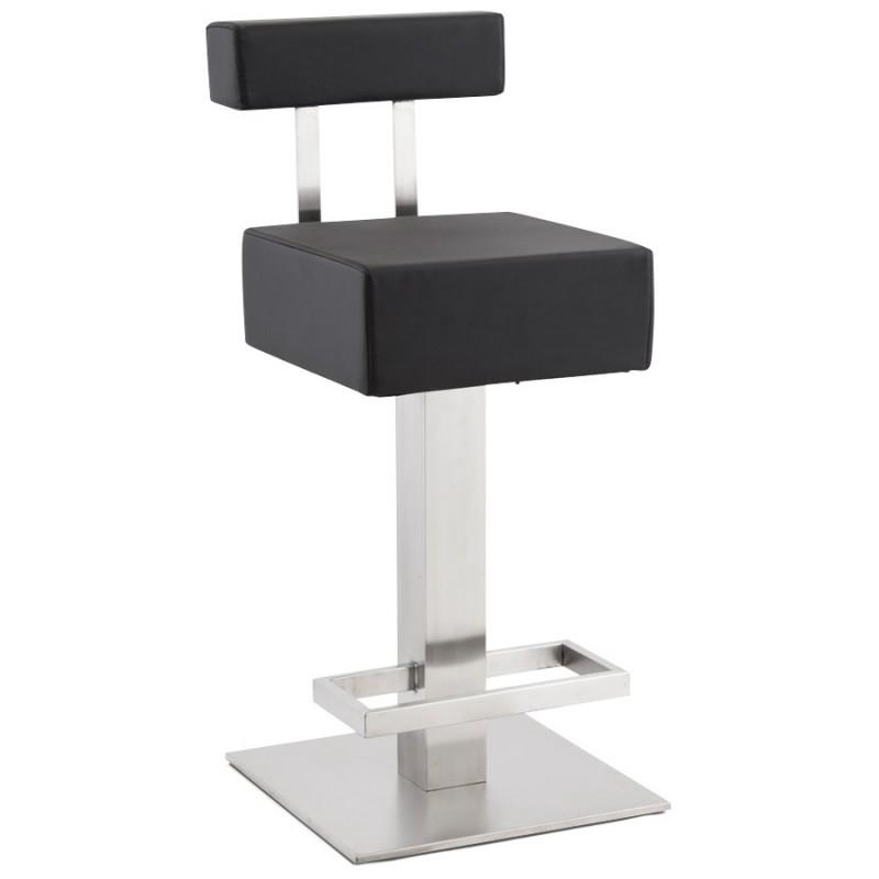 Tabouret design carré rotatif mi-hauteur ESCAULT MINI (noir) - image 16057