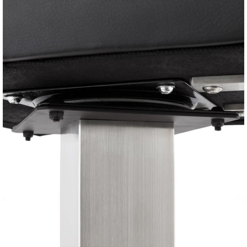 Tabouret design carré rotatif mi-hauteur ESCAULT MINI (noir) - image 16067