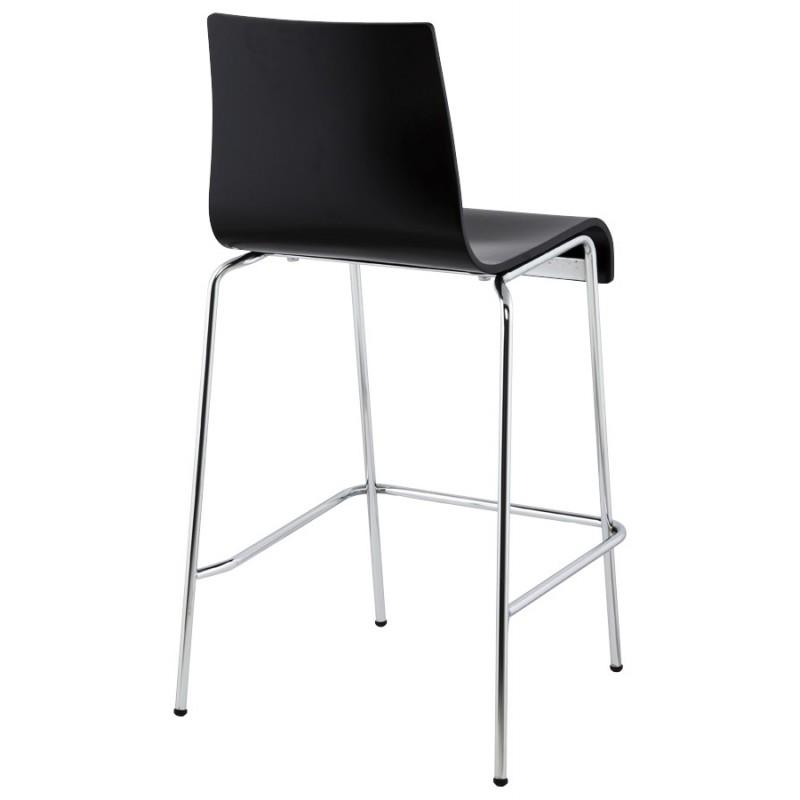 Simple tabouret design carr sambre en bois et mtal chrom with chaise bar but - Castorama chaise de bar ...