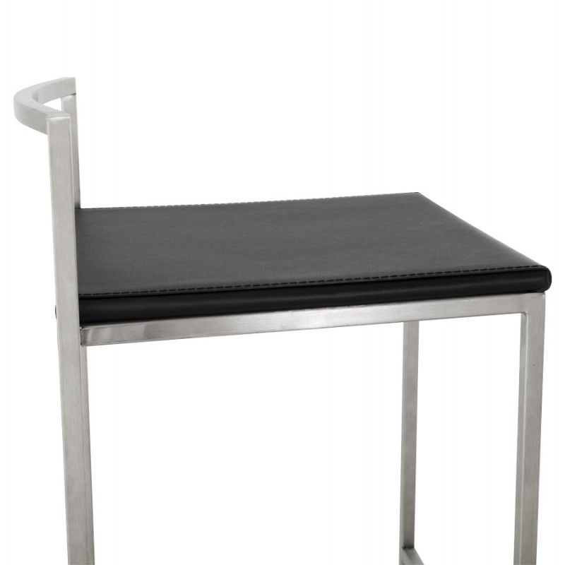 Tabouret design épuré LOIRET mi-hauteur (noir) - image 16099