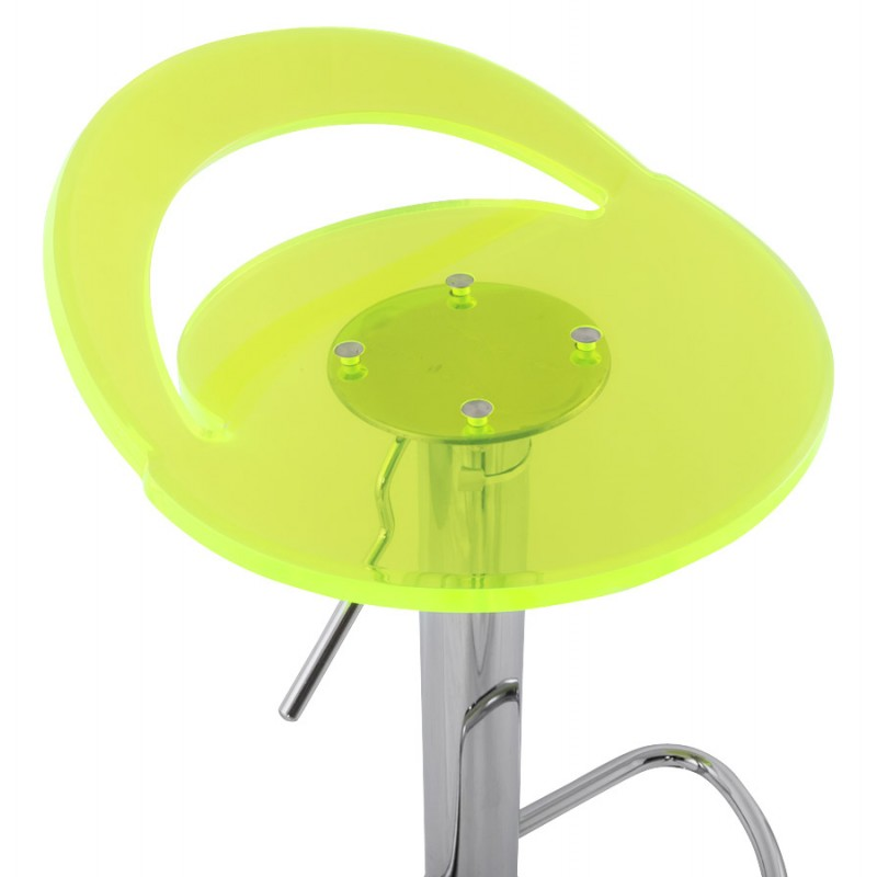 MOSELLE stool round design in ABS (high-strength polymer) and chrome metal (fluo) - image 16124