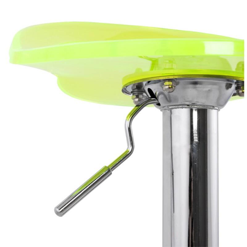 Hocker Runde Design MOSELLE in ABS (hochfesten Polymer) und Chrom Metall (Fluo) - image 16126