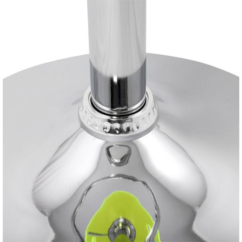 Hocker Runde Design MOSELLE in ABS (hochfesten Polymer) und Chrom Metall (Fluo) - image 16129