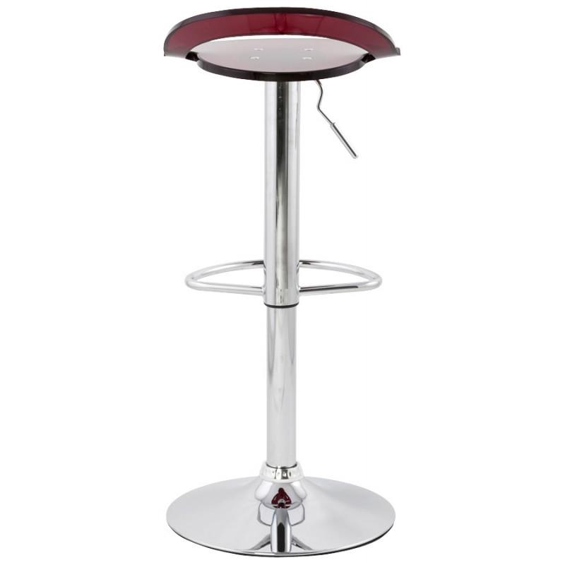 Tabouret MOSELLE rond design en ABS (polymère à haute résistance) et métal chromé (rouge) - image 16134