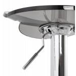 Tabouret MOSELLE rond design en ABS (polymère à haute résistance) et métal chromé (fumé)
