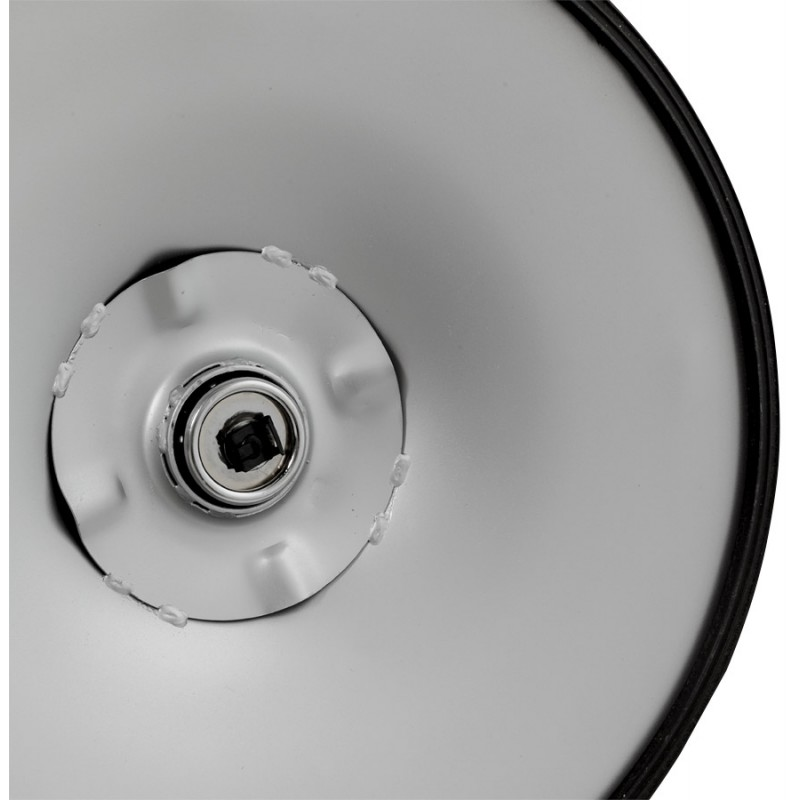 LYS Stool round design in ABS (high-strength polymer) and chrome metal (black) - image 16202