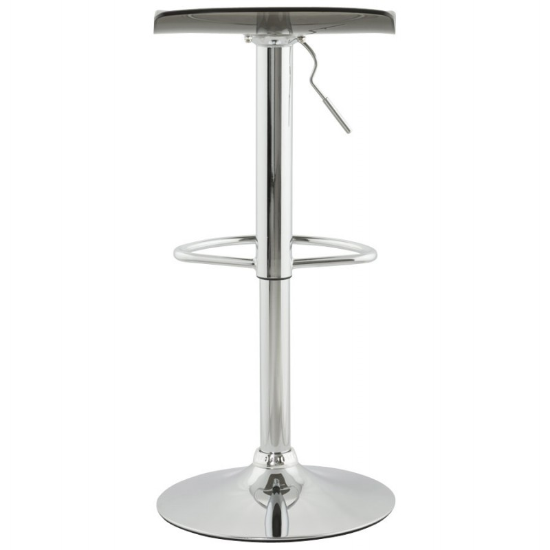 LYS Stool round design in ABS (high-strength polymer) and chrome metal (smoked) - image 16224