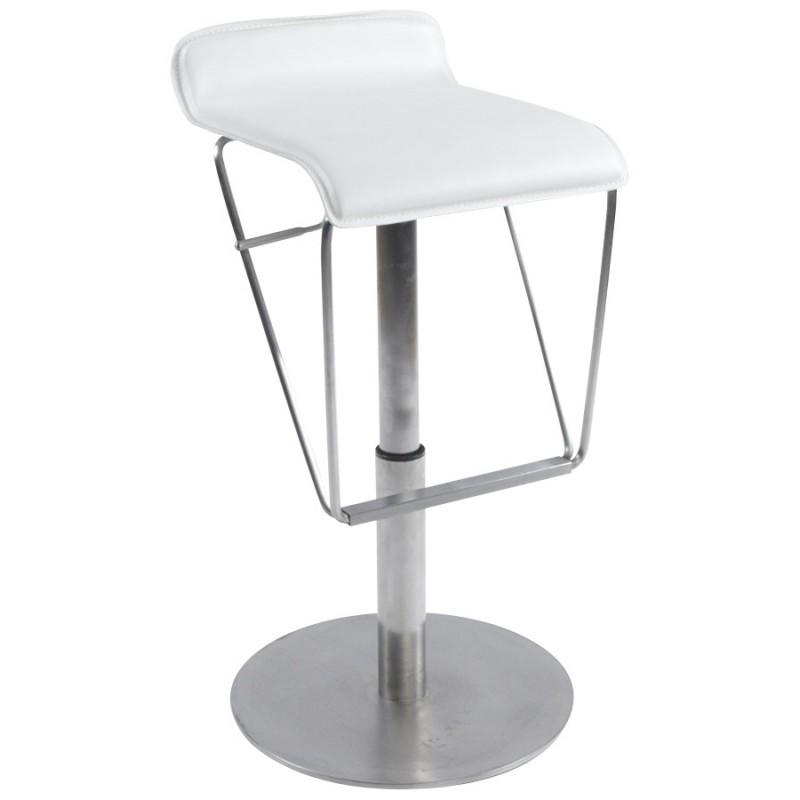 Tabouret de bar ARIEGE rotatif et réglable (blanc) - image 16255