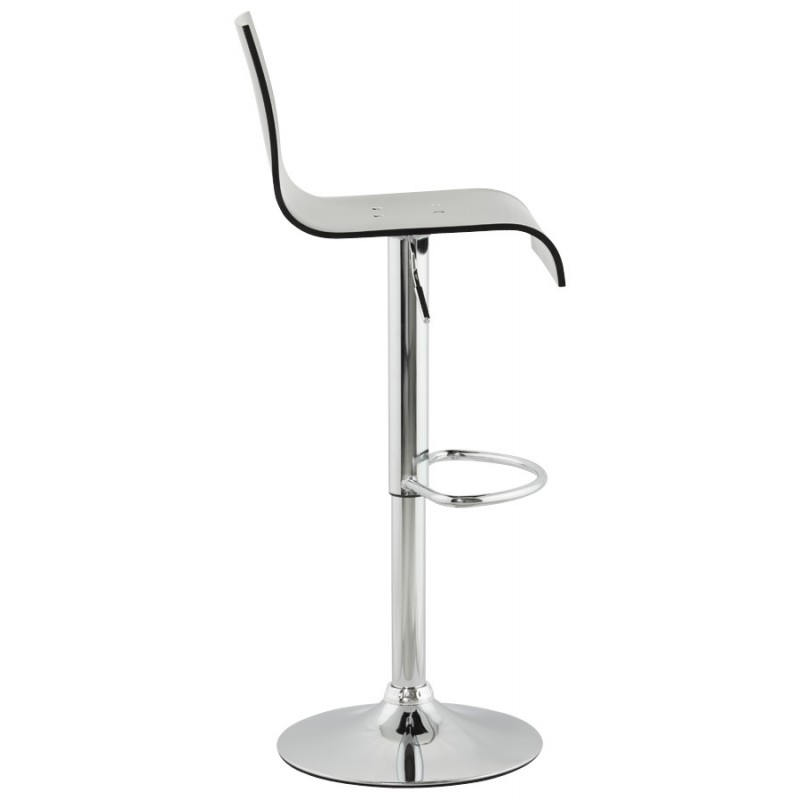 SARTHE Stool in ABS (high-strength polymer) and chrome metal (black) - image 16268