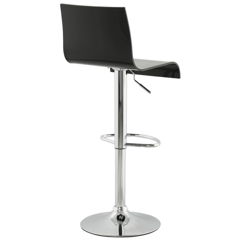 SARTHE Stool in ABS (high-strength polymer) and chrome metal (black) - image 16269
