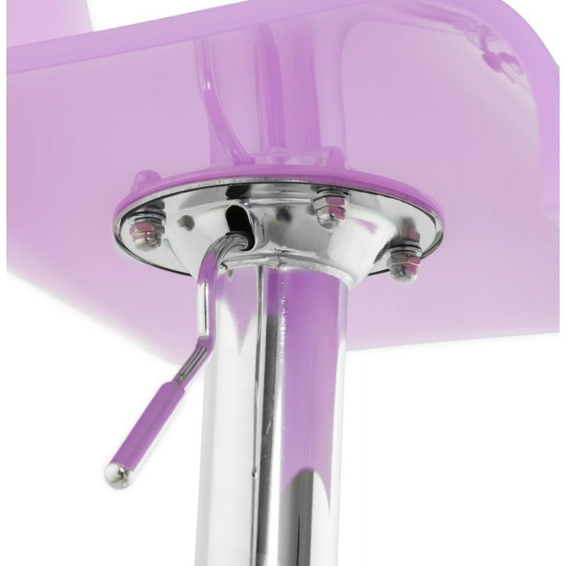 Tabouret SARTHE en ABS (polymère à haute résistance) et métal chromé (rose) - image 16286