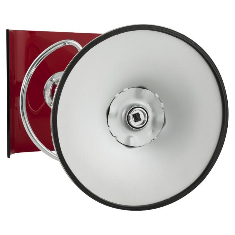 Tabouret SARTHE en ABS (polymère à haute résistance) et métal chromé (rouge) - image 16302