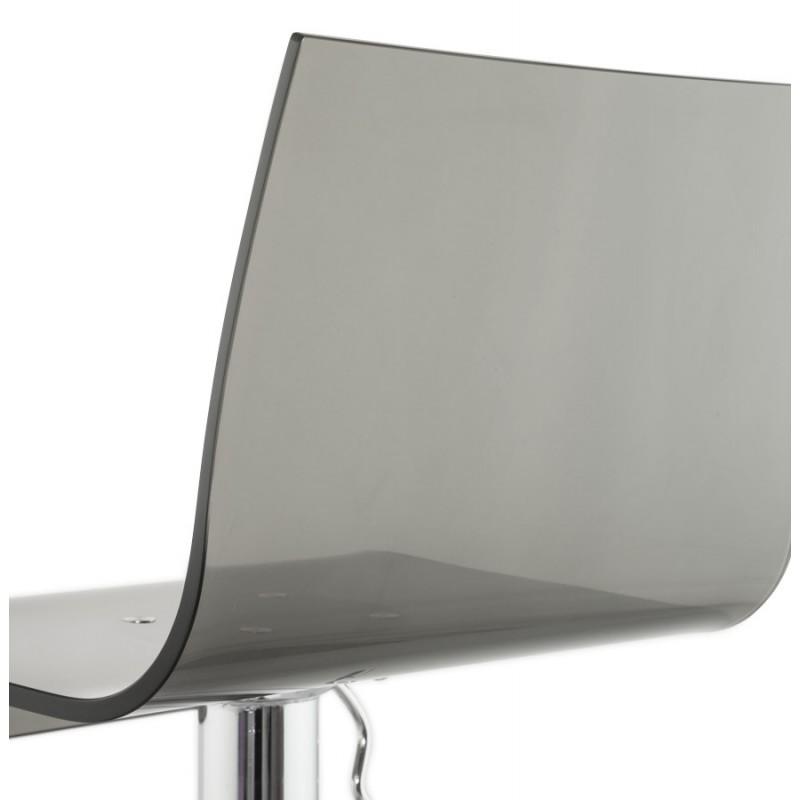 Tabouret SARTHE en ABS (polymère à haute résistance) et métal chromé (fumé) - image 16310