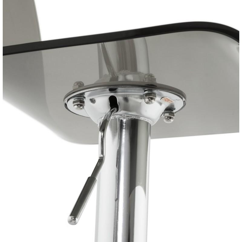 Tabouret SARTHE en ABS (polymère à haute résistance) et métal chromé (fumé) - image 16311