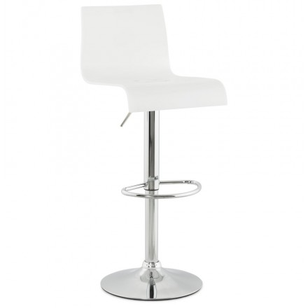 SARTHE Stool in ABS (high-strength polymer) and chrome metal (white)