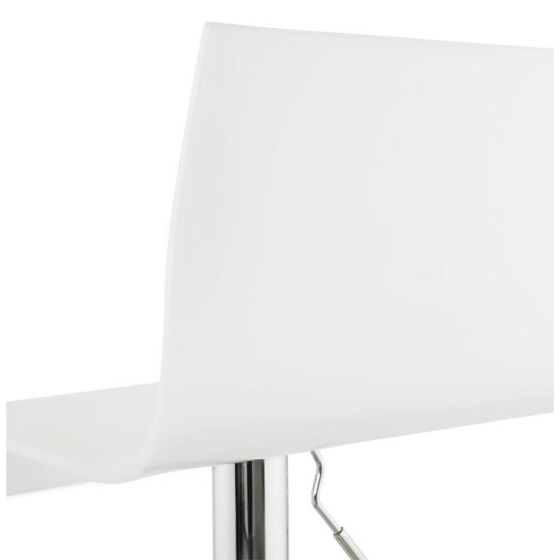 Tabouret SARTHE en ABS (polymère à haute résistance) et métal chromé (blanc) - image 16323