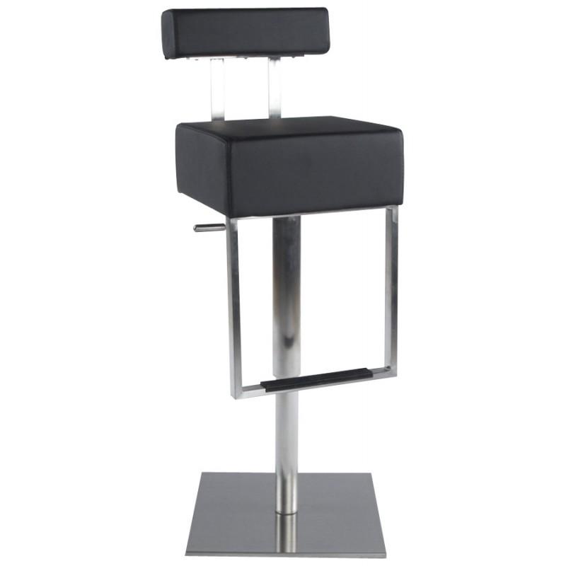 Tabouret de bar moderne rotatif et réglable GARDON (noir) - image 16355