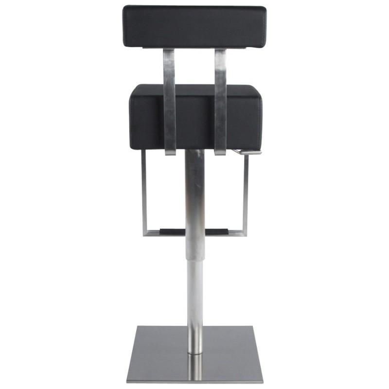 Tabouret de bar moderne rotatif et réglable GARDON (noir) - image 16359