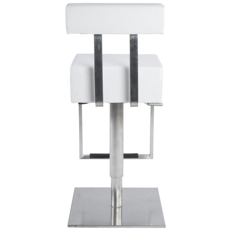 Tabouret de bar moderne rotatif et réglable GARDON (blanc) - image 16370