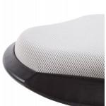 Hocker VIENNE in beständig Stoffe und angespritztem Polypropylen (grau)
