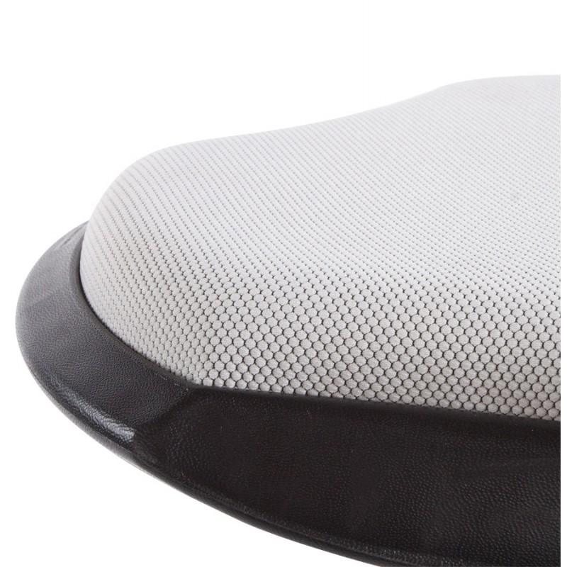 Tabouret VIENNE en tissus résistant et Polypropylène moulé (gris) - image 16387