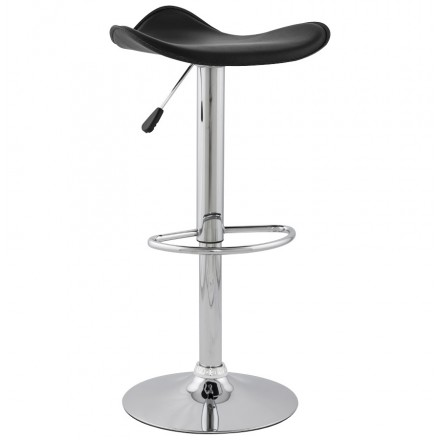 Bar stool round design ADOUR rotary and adjustable (black)