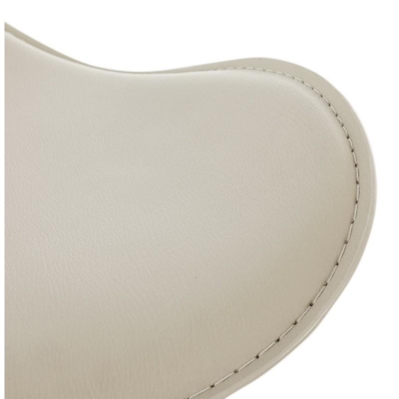 Tabouret de bar design rond rotatif et réglable ADOUR (crème) - image 16434