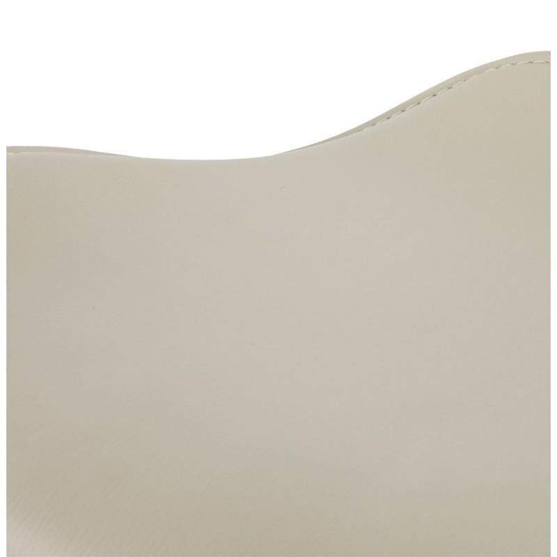 Tabouret de bar design rond rotatif et réglable ADOUR (crème) - image 16435