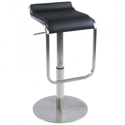 Design square stool rotating and adjustable LOUE (black)