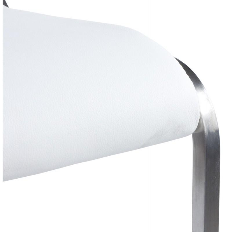 Tabouret design carré rotatif et réglable LOUE (blanc) - image 16451