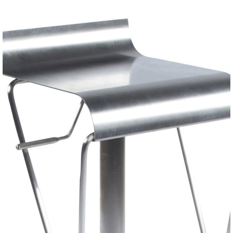Tabouret design carré MAINE en acier brossé (acier) - image 16458
