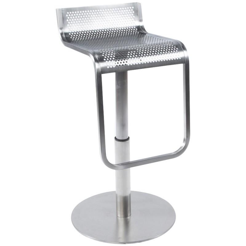 Tabouret de bar design VILAINE en acier brossé (acier)
