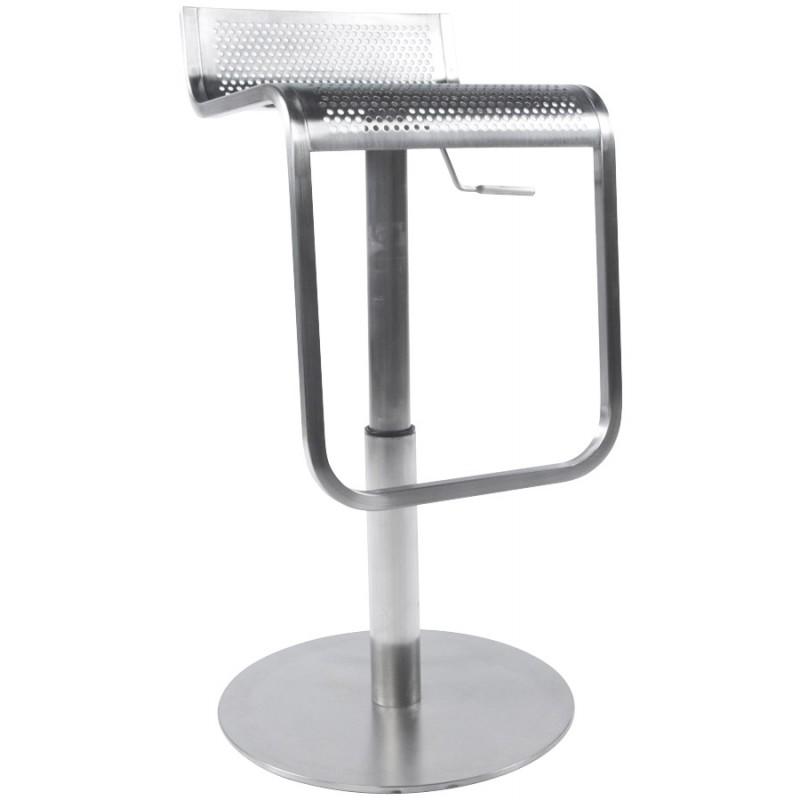 Tabouret de bar design VILAINE en acier brossé (acier) - image 16463