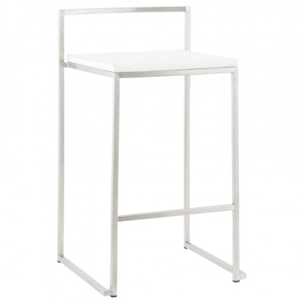 Design stool LOIRET half-height (white)