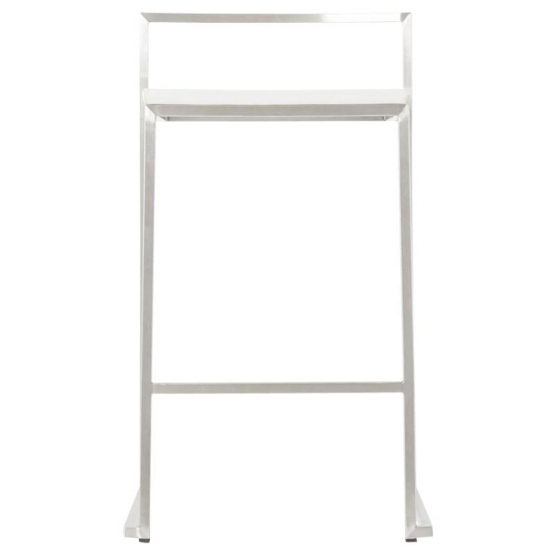 Tabouret design épuré LOIRET mi-hauteur (blanc) - image 16540