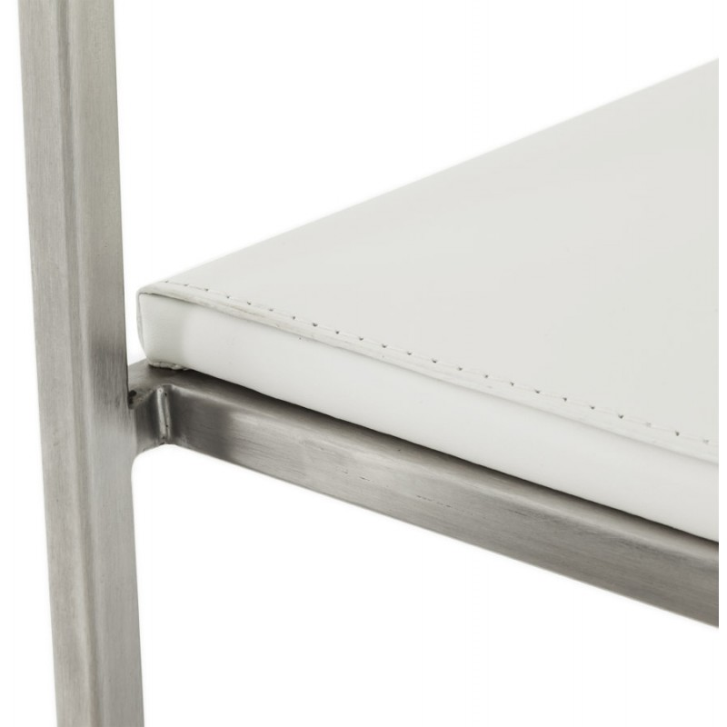 Tabouret design épuré LOIRET mi-hauteur (blanc) - image 16546