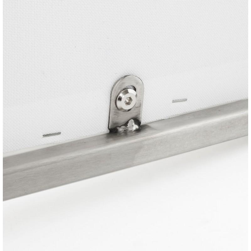 Tabouret design épuré LOIRET mi-hauteur (blanc) - image 16547