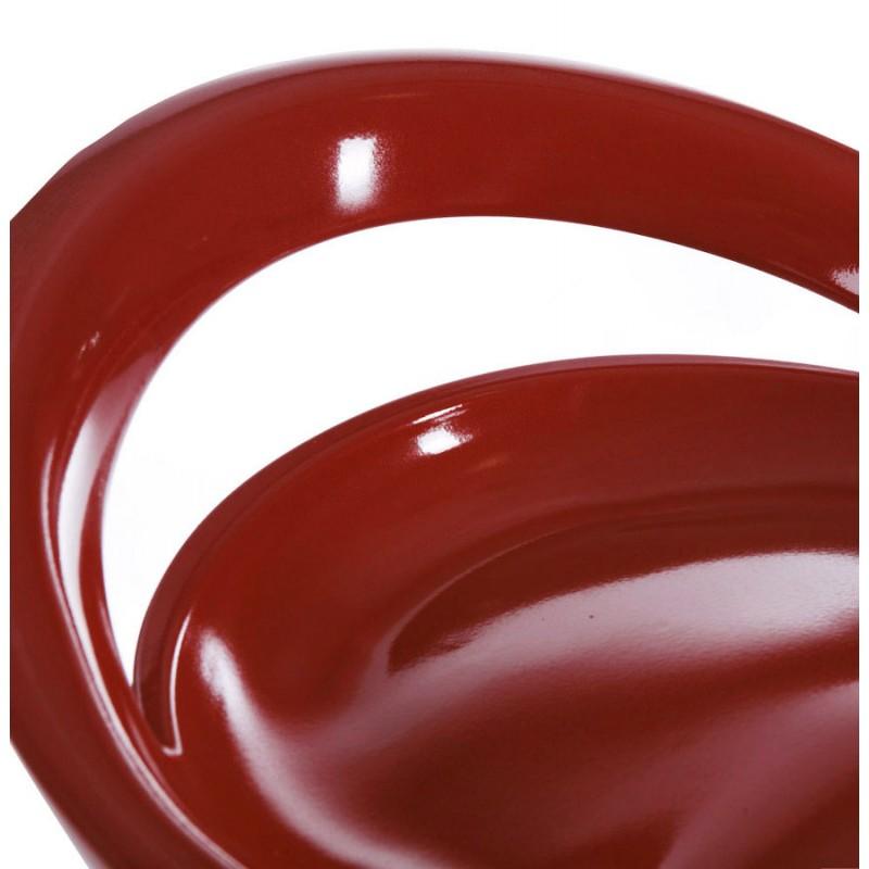 Hocker ALLIER Runde in ABS (hochfesten Polymer) und Chrom Metall (rot) - image 16597