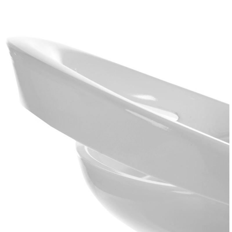 Tabouret ALLIER rond en ABS (polymère à haute résistance) et métal chromé (blanc) - image 16613