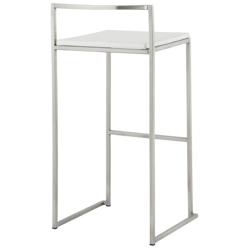 Bar stool design square DORDOE (white) - image 16634