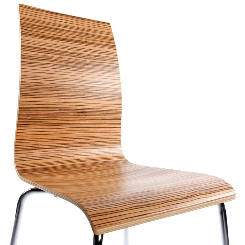 OUST Versatile Chair wood or derived and chrome metal (zebrano) - image 16694