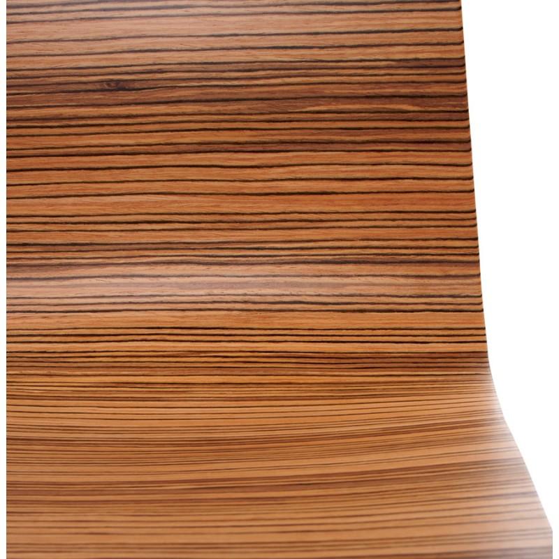 Silla versátil OUST derivada o madera y metal cromado (zebrano)