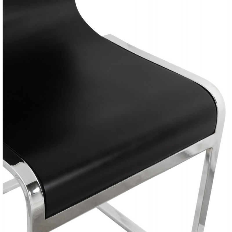 DURANCE Modern Chair wood and chrome metal (black) - image 16704