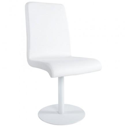 Chaise polyvalente ARC en polyuréthane et métal peint (blanc)
