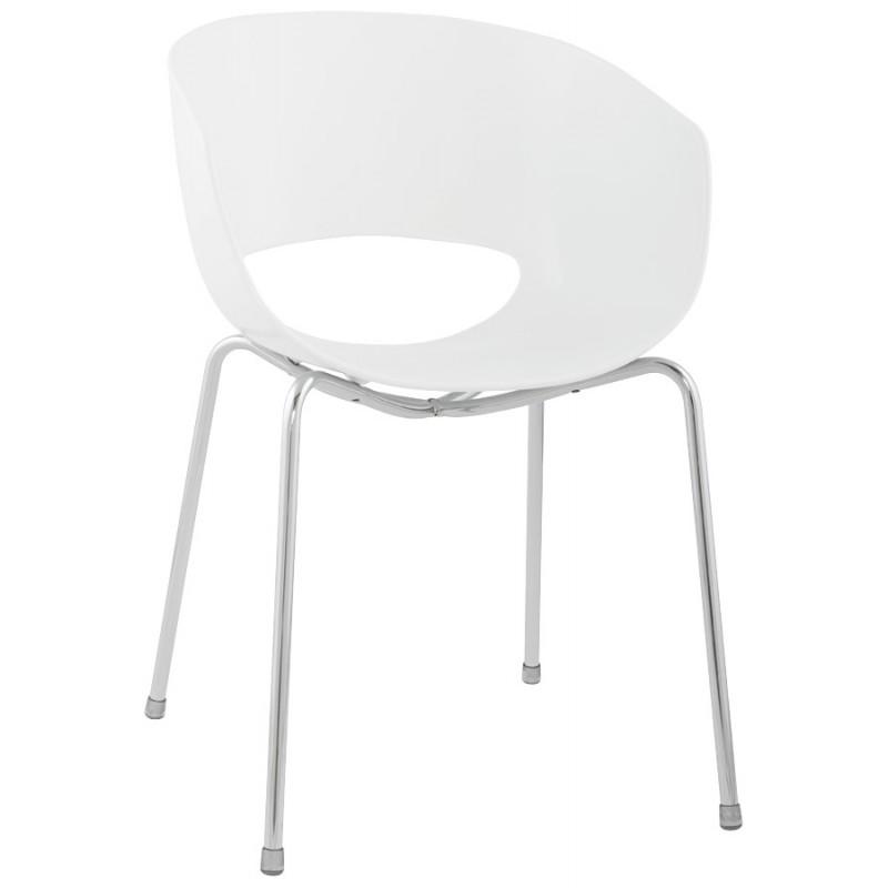 chaise polyvalente vezere en polycarbonate et m tal chrom. Black Bedroom Furniture Sets. Home Design Ideas