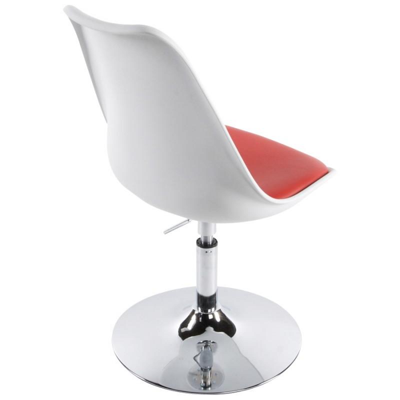 Sedia Design Regolabile.Sedia Design E Aisne Rotazione Regolabile Bianco E Rosso